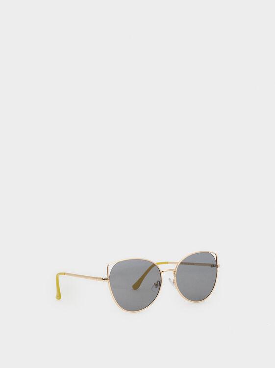 Metal Sunglasses, Golden, hi-res