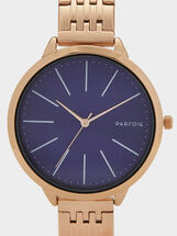 Watch With Navy Blue Face, Orange, hi-res