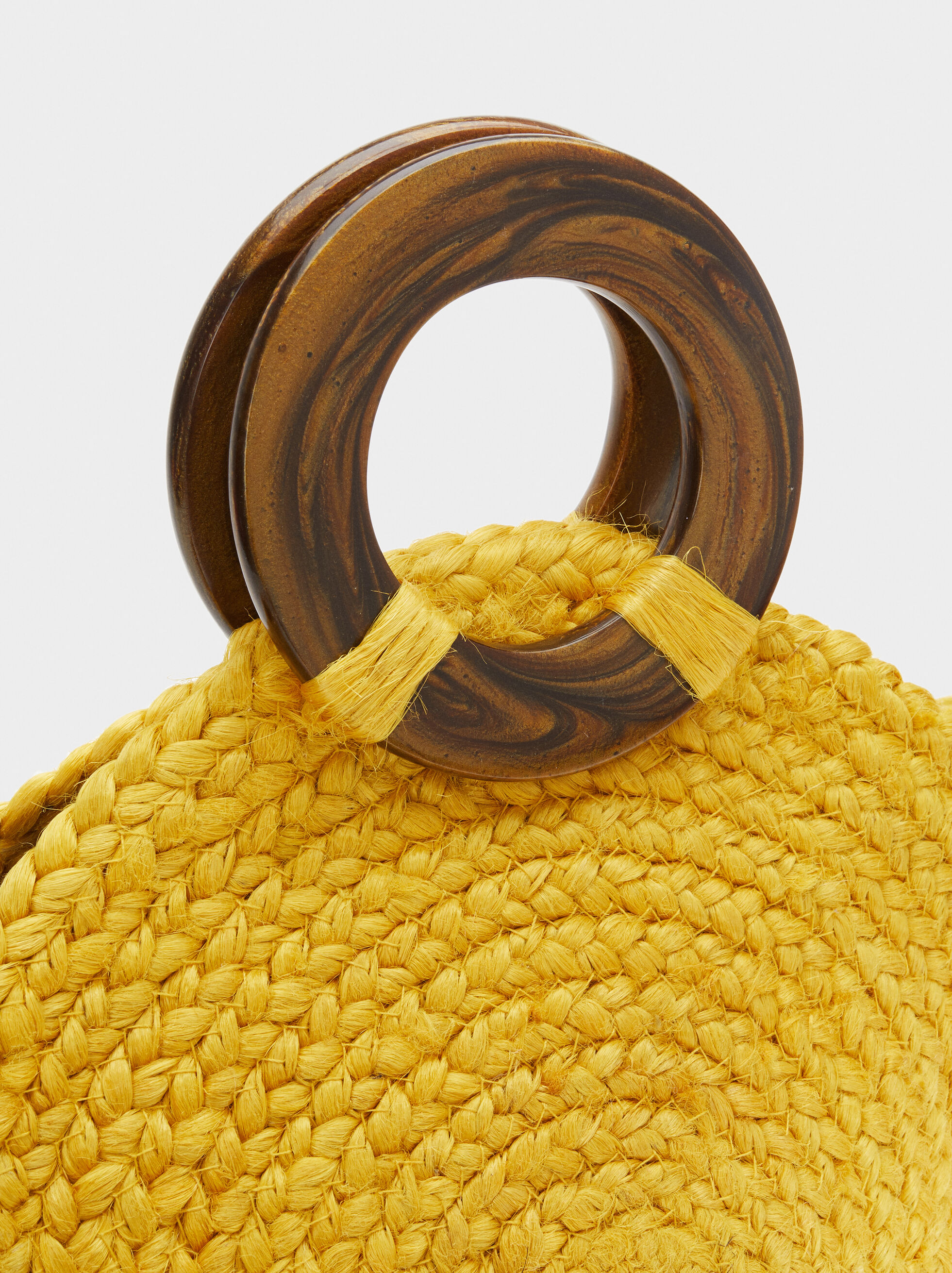Straw Tote Bag, Yellow, hi-res