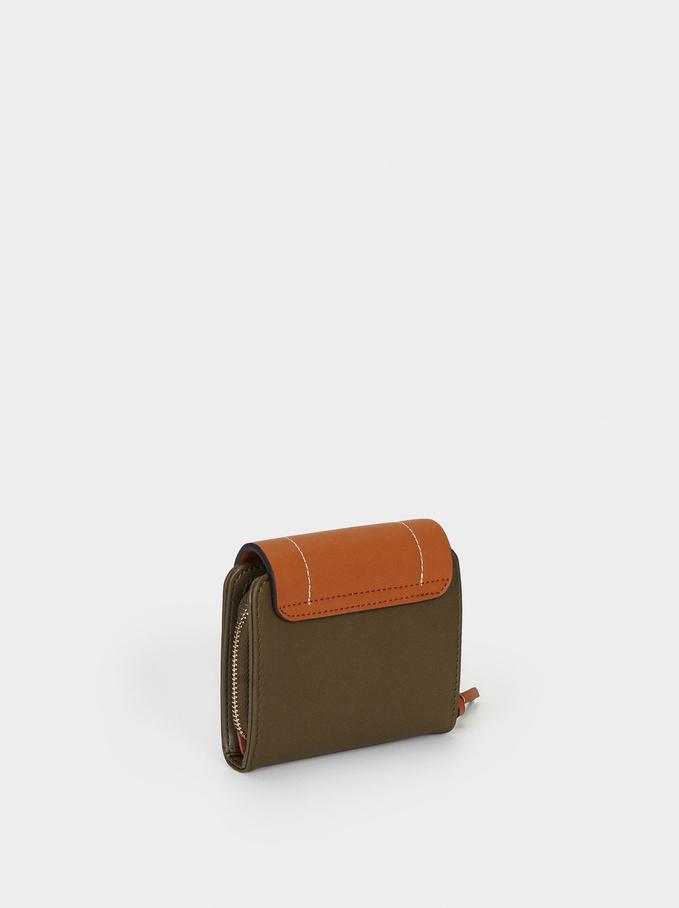 Portafoglio Compatto Combinato, Khaki, hi-res