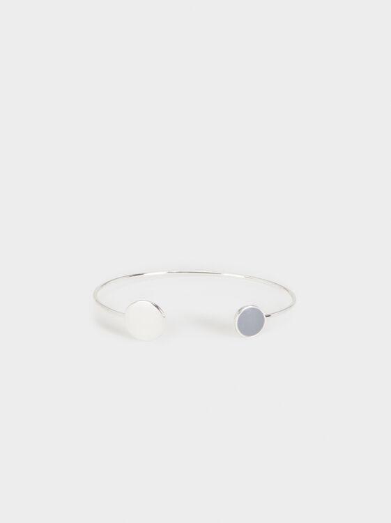 Magnolia Circle Bracelet, Silver, hi-res