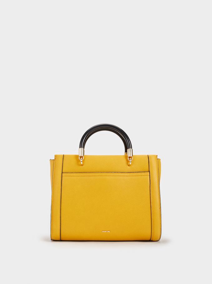 Valerie Tote Bag, Mustard, hi-res