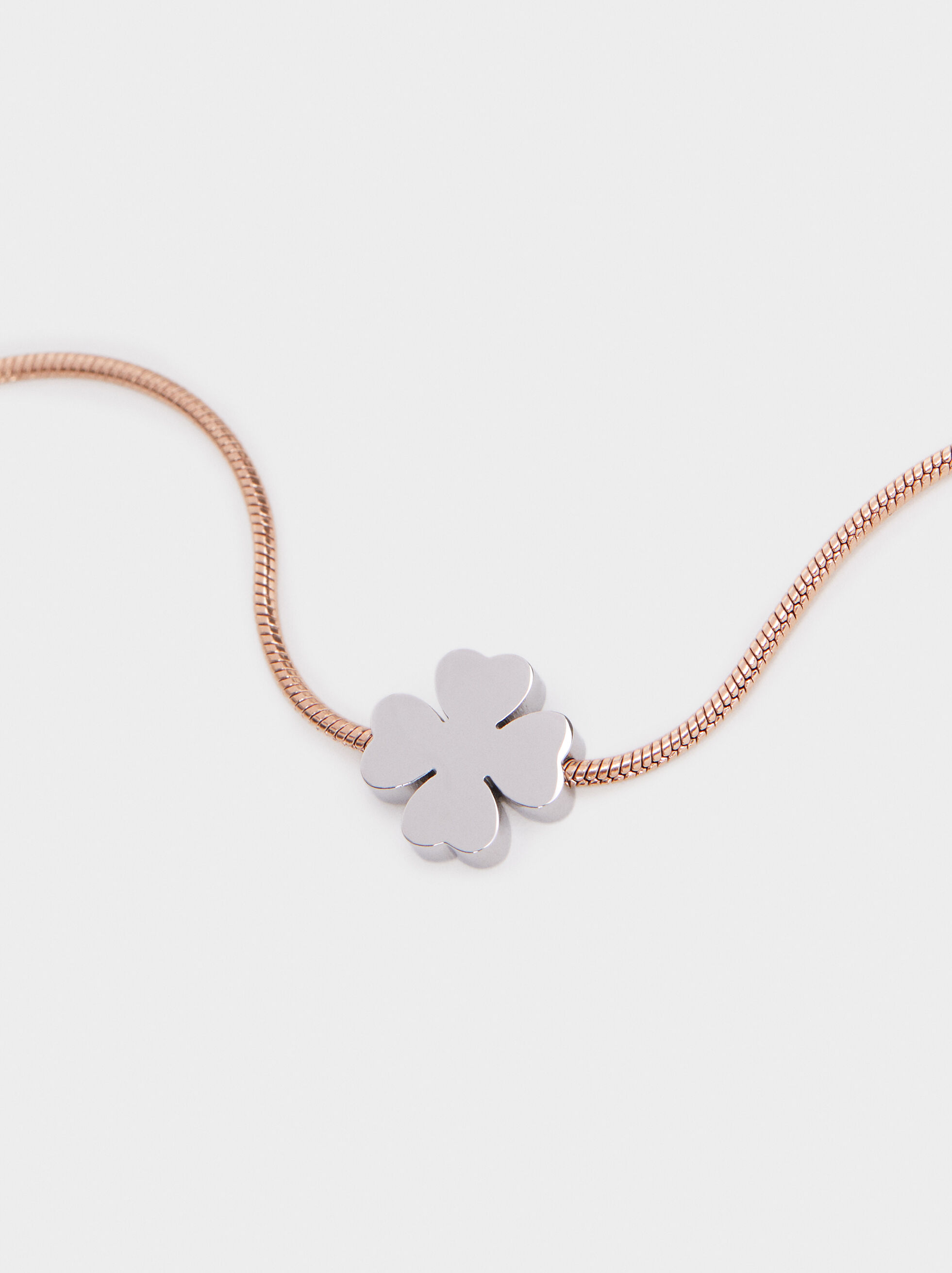 Adjustable Bracelet With Shamrock Detail, Orange, hi-res
