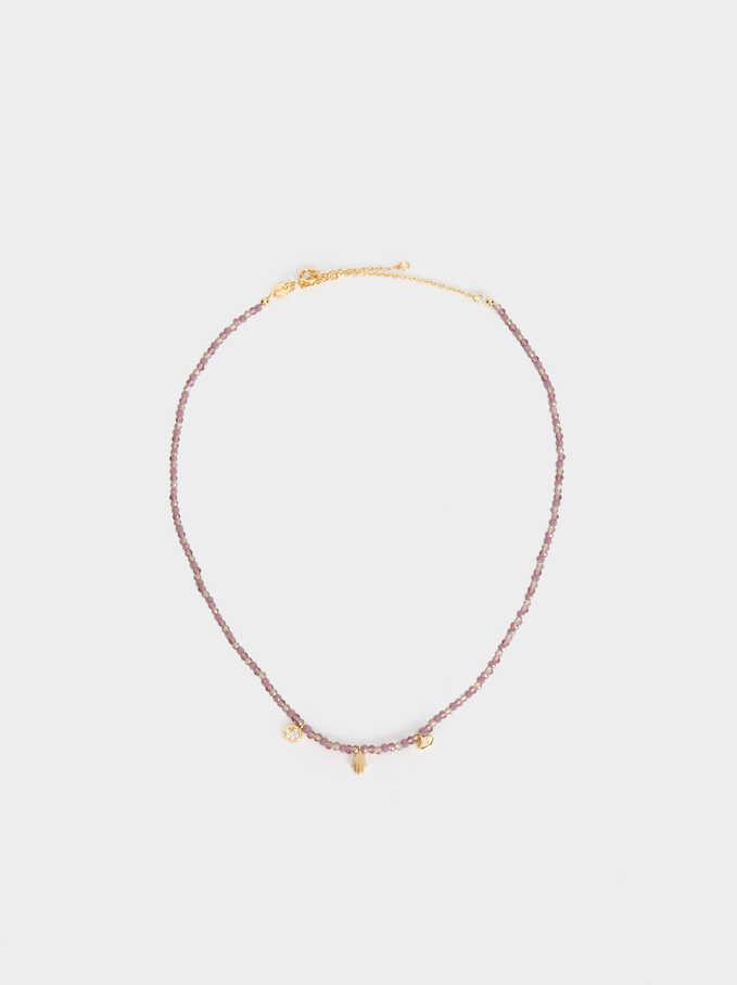 925 Silver Short Necklace, Multicolor, hi-res