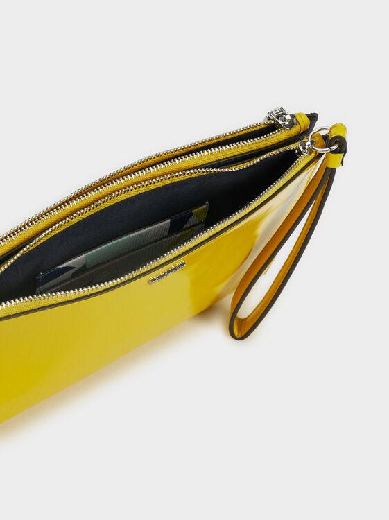 Patent Finish Multi-Purpose Handbag, Yellow, hi-res