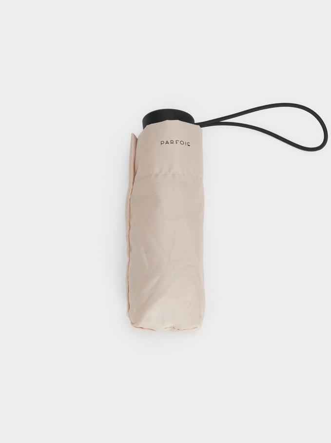 Basic Folding Umbrella, Beige, hi-res