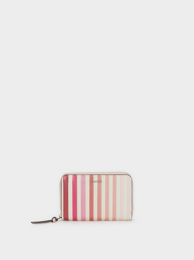 Small Striped Purse, Pink, hi-res