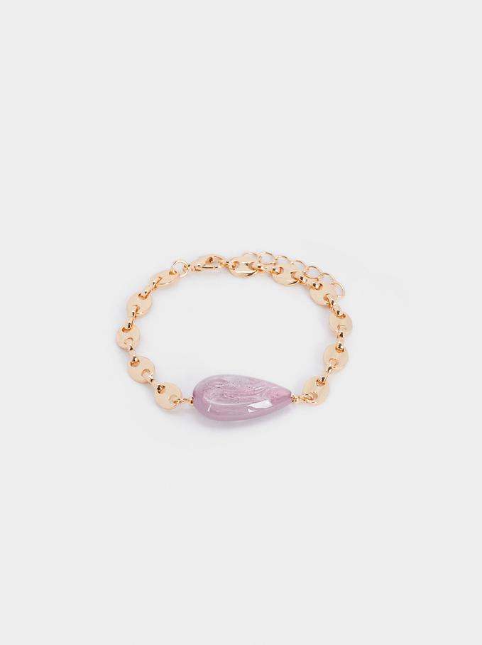 Adjustable Resin Bracelet, Pink, hi-res