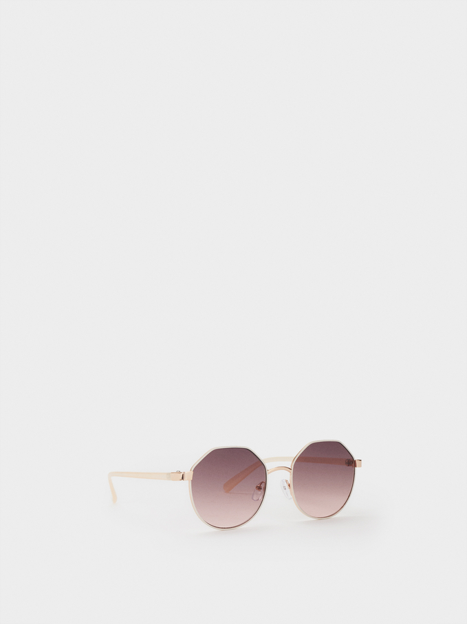 Metal Sunglasses, White, hi-res