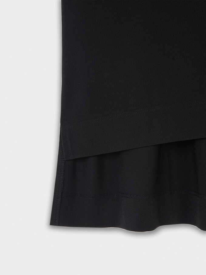 Camiseta Escote De Pico, Negro, hi-res