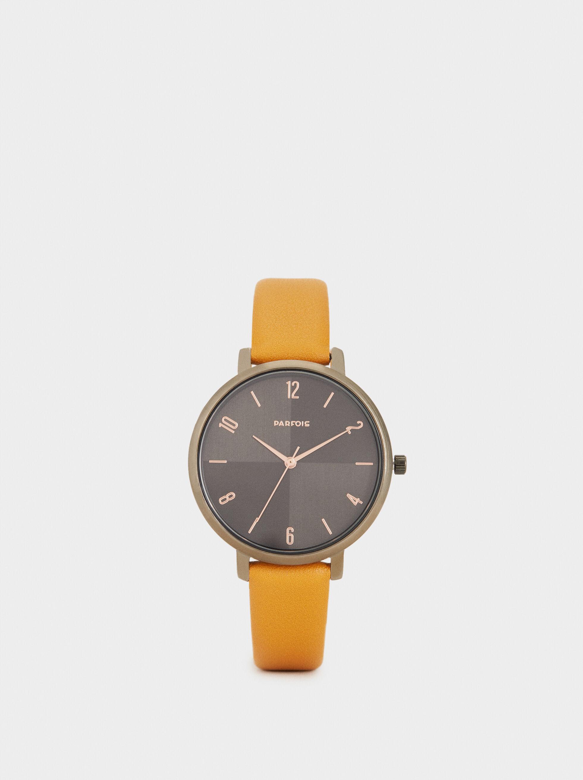 Reloj De Pulsera Textura Piel, , hi-res