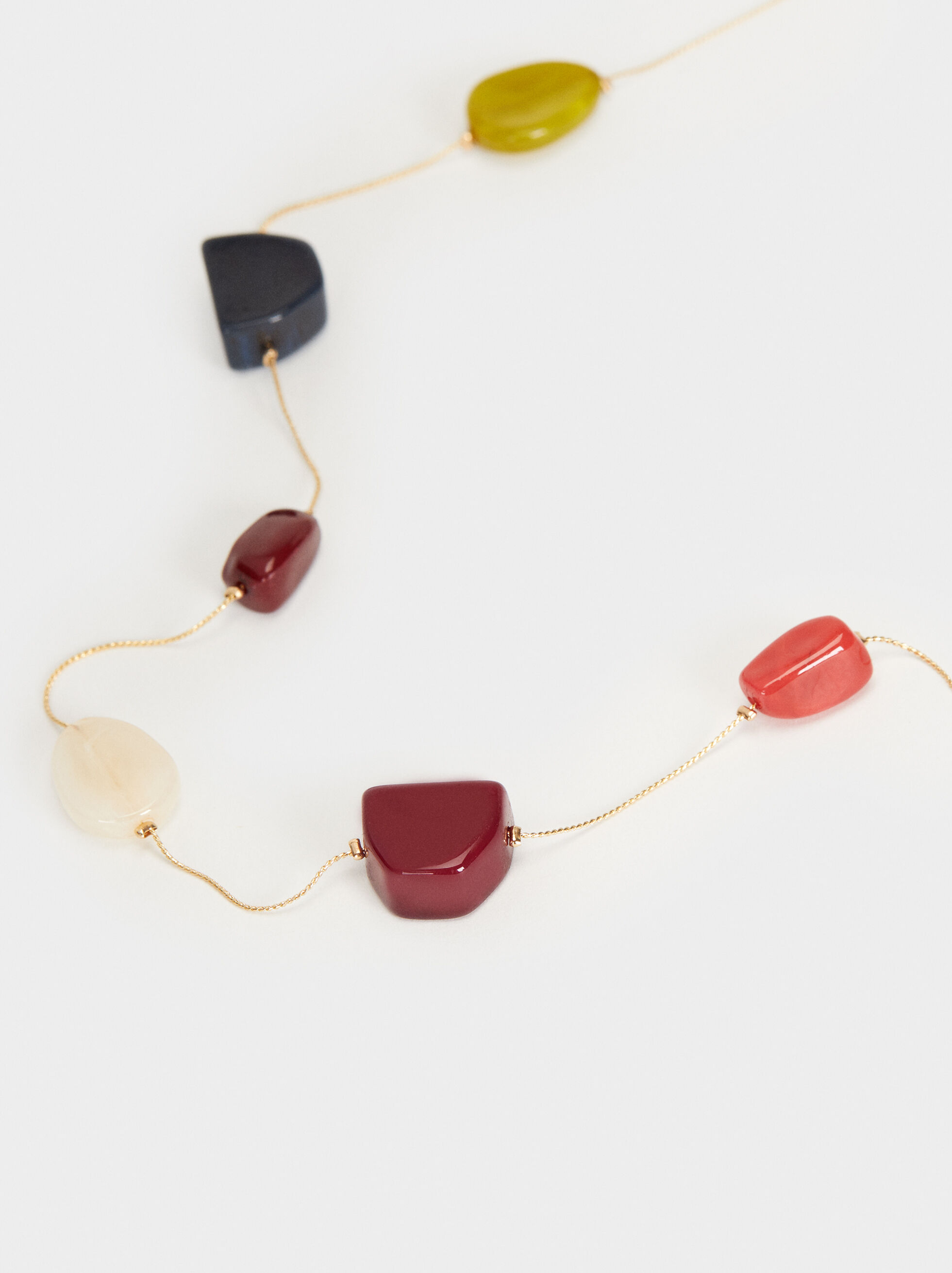 Wild Color Long Pendant Necklace, Multicolor, hi-res