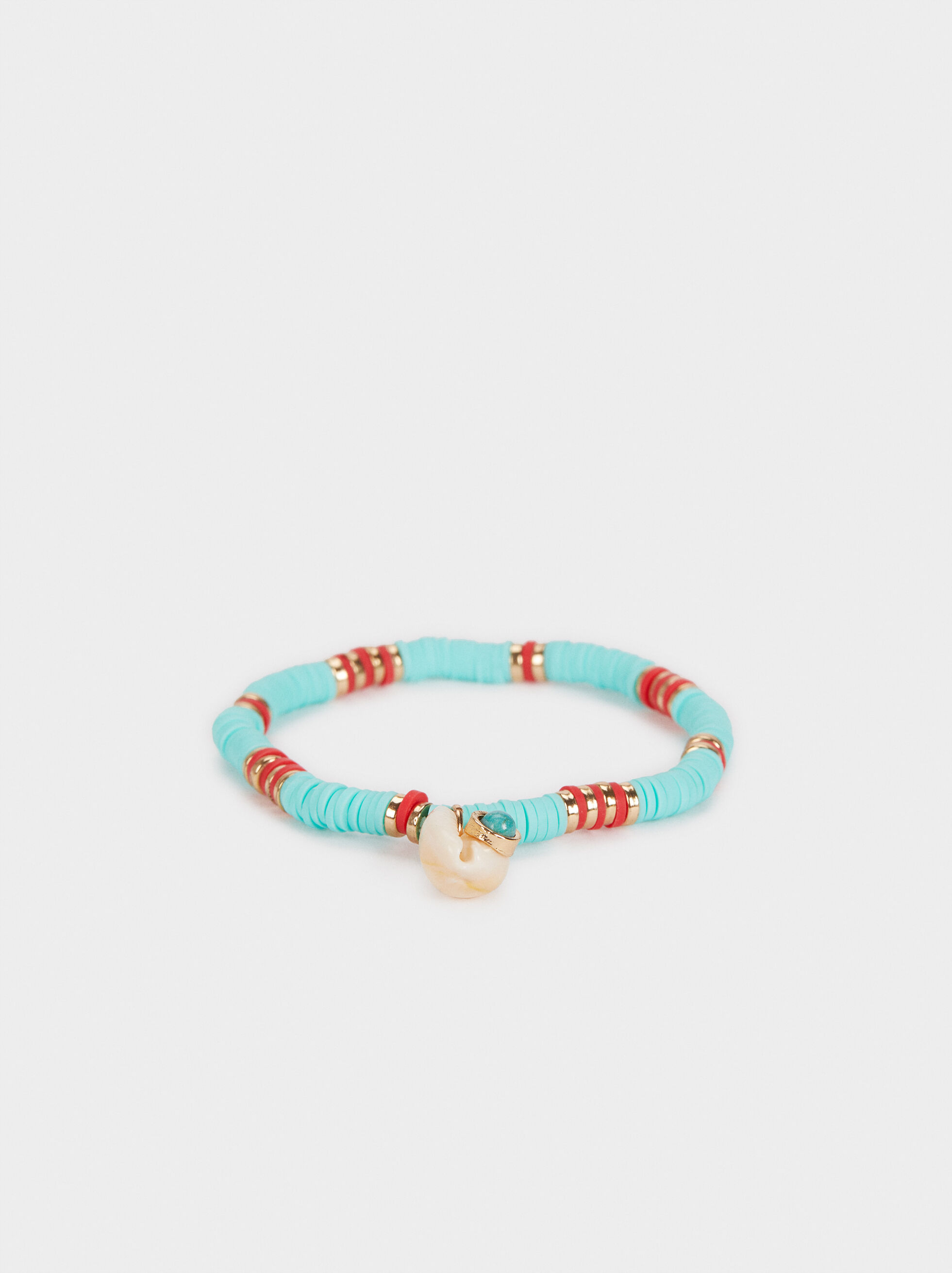 Recife Elastic Bracelet With Shell Details, Multicolor, hi-res
