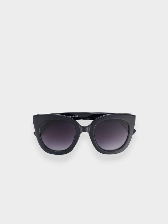 Sunglasses With Resin Frame, Black, hi-res