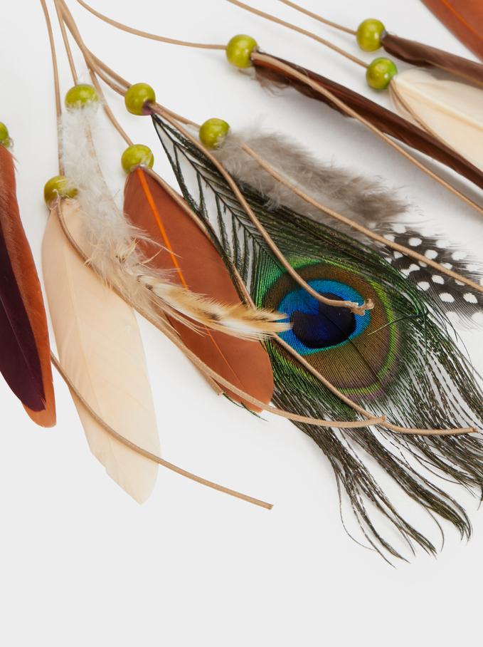 Feather Headband, Multicolor, hi-res