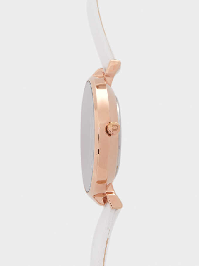 Watch With Contrasting Face, White, hi-res