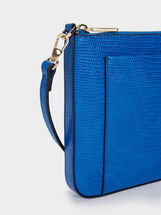 Animal Embossed Crossbody Bag, Blue, hi-res