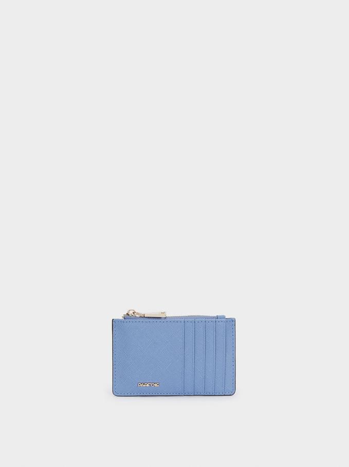 Basic Cardholder, Blue, hi-res