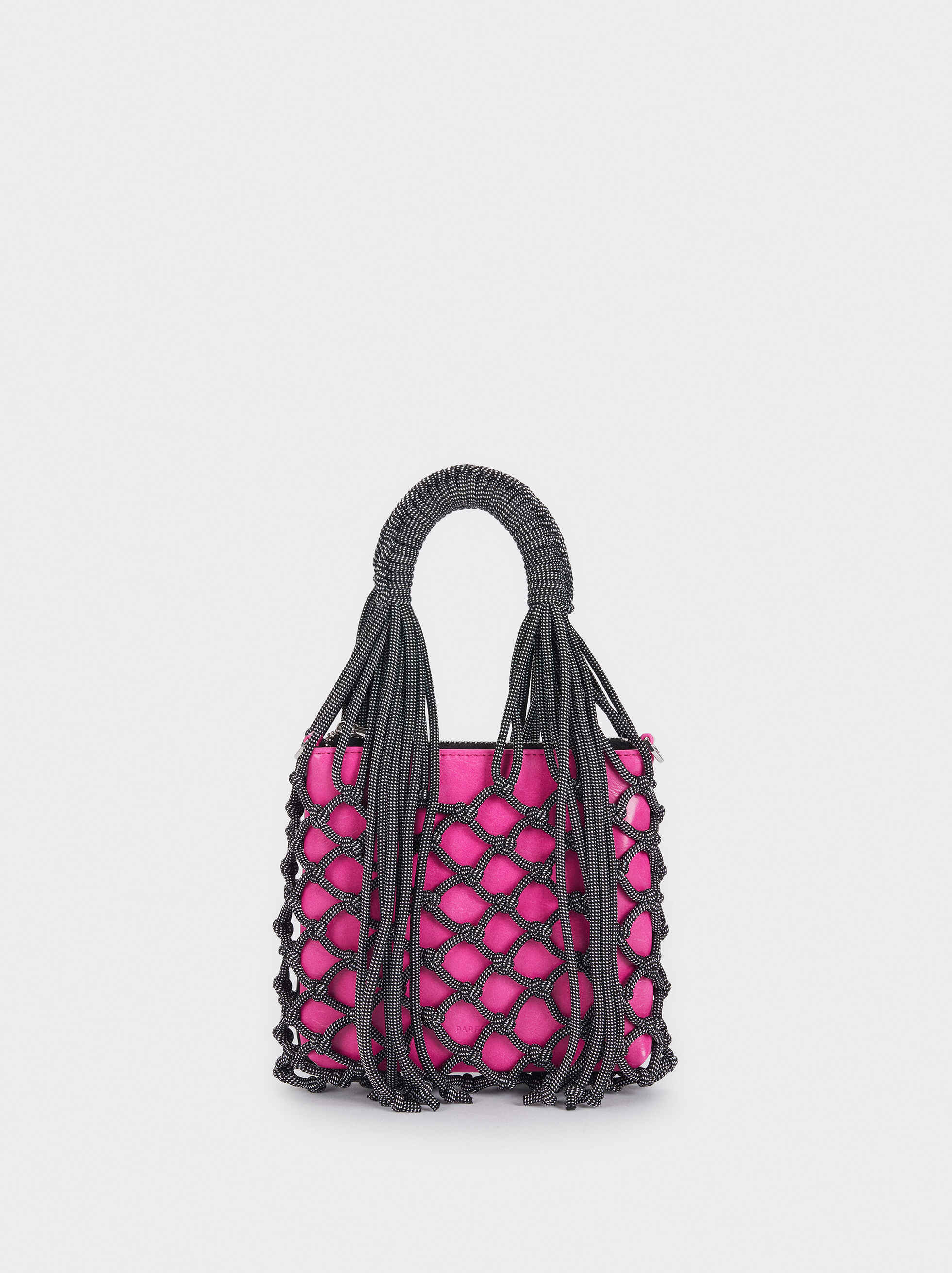 Bucket Bag With Braided Rope Detail, Black, hi-res