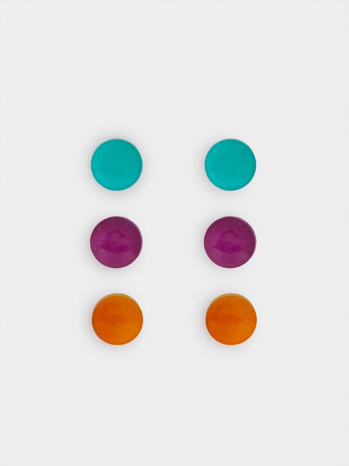 Set Di Orecchini Multicolori, Multicolore, hi-res