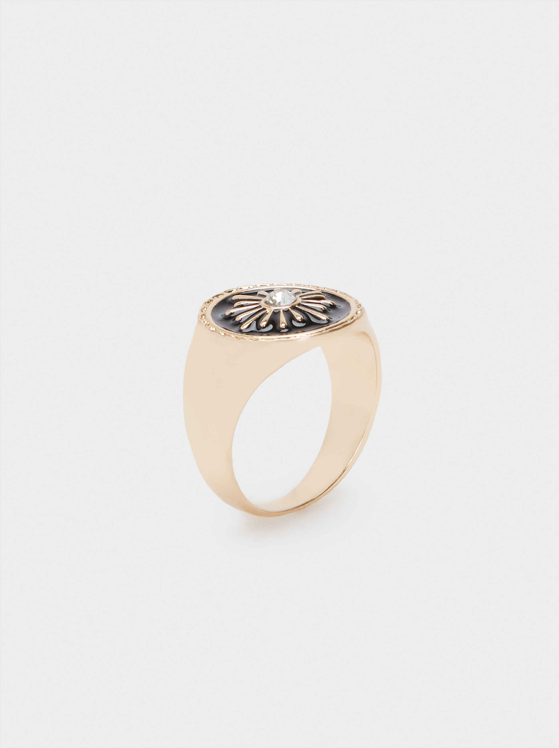 Golden Signet Ring, , hi-res